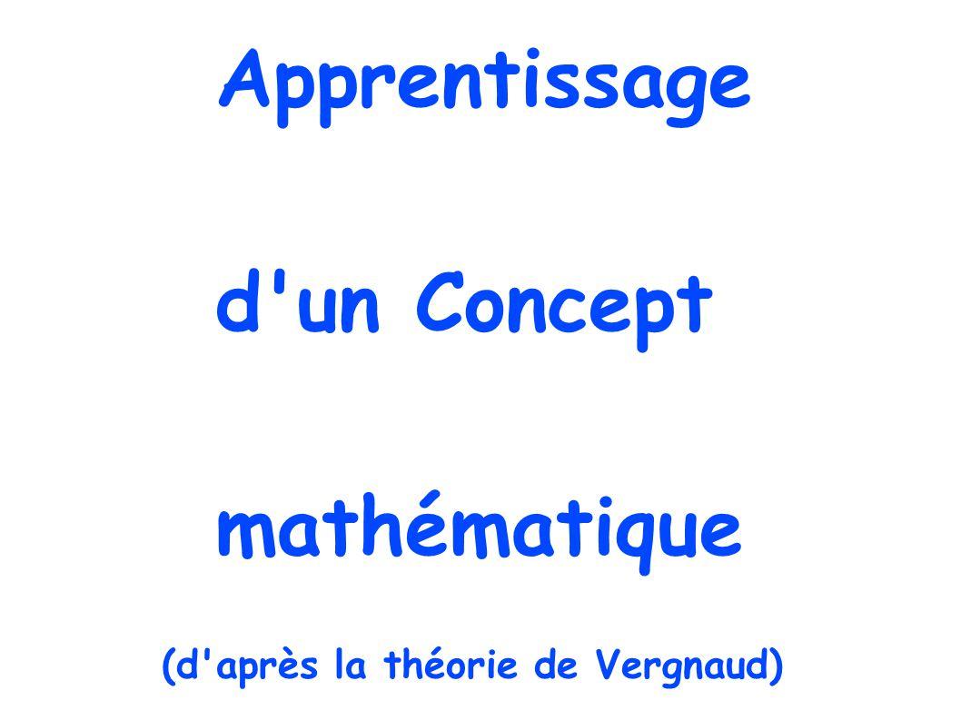 Apprentissage d un Concept mathématique (d après la théorie de Vergnaud)