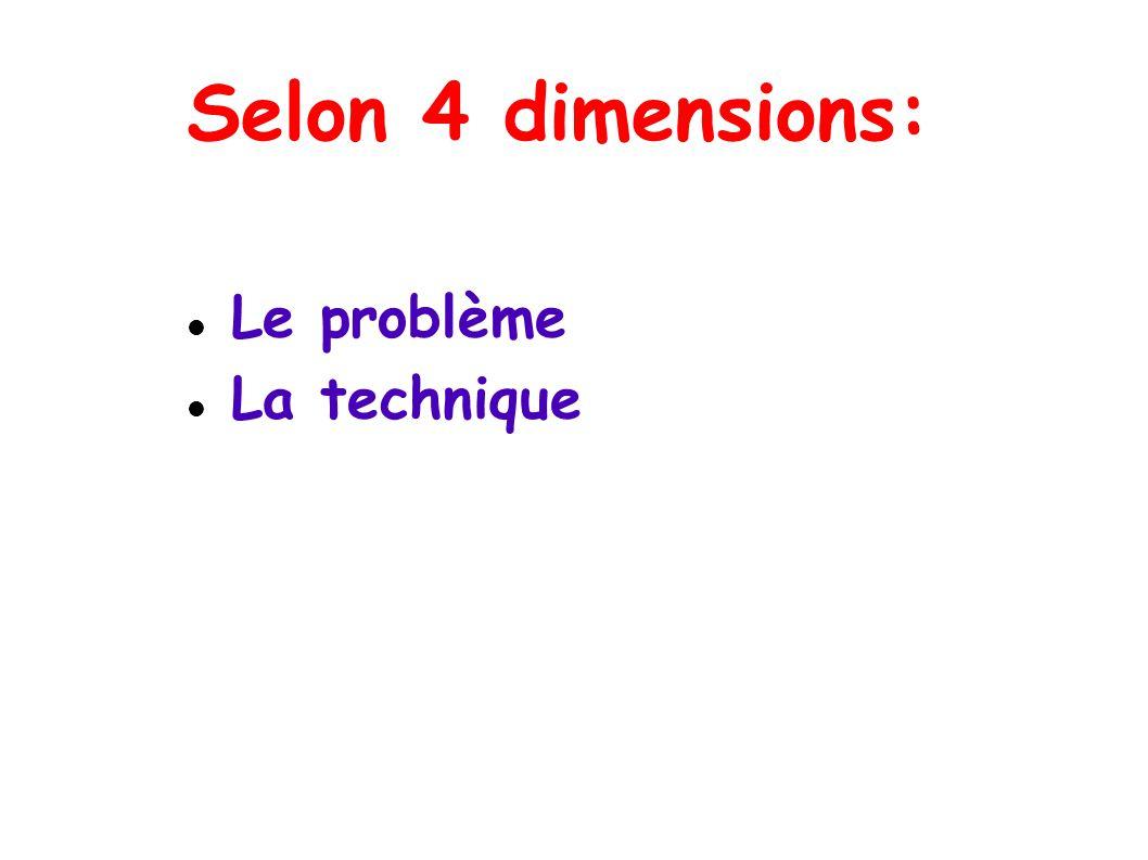 Selon 4 dimensions: Le problème La technique Le langage