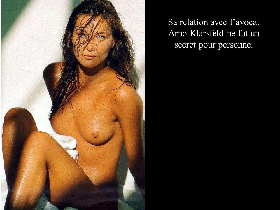 Sa relation avec l'avocat Arno Klarsfeld ne fut un secret pour personne.