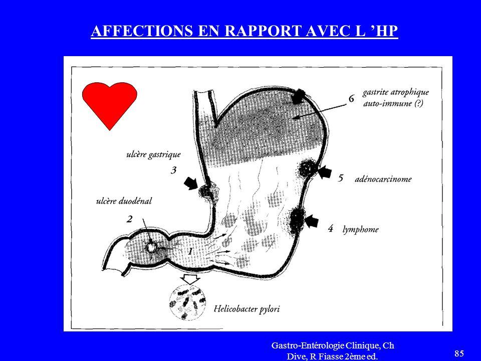 Gastro-Entérologie Clinique, Ch Dive, R Fiasse 2ème ed. 85 AFFECTIONS EN RAPPORT AVEC L 'HP
