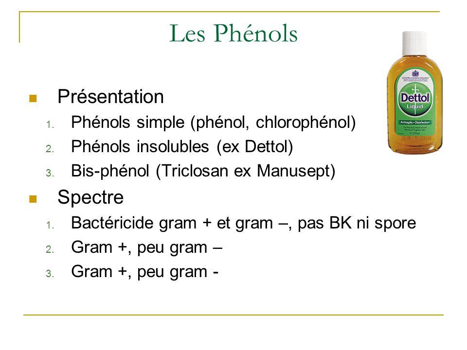 Les Phénols Présentation 1.Phénols simple (phénol, chlorophénol) 2.