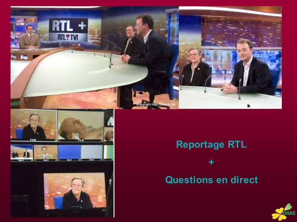 Reportage RTL + Questions en direct