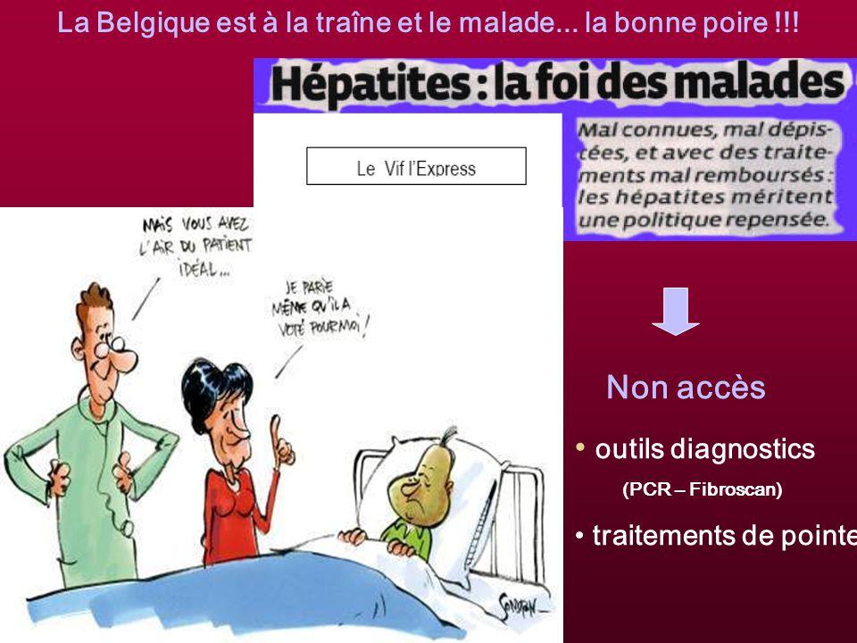 La Belgique est à la traîne et le malade...la bonne poire !!.