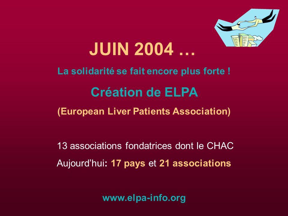 JUIN 2004 … La solidarité se fait encore plus forte .
