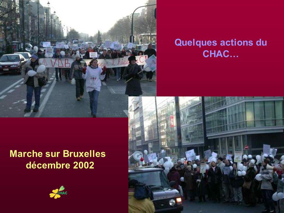 Marche sur Bruxelles décembre 2002 Quelques actions du CHAC…