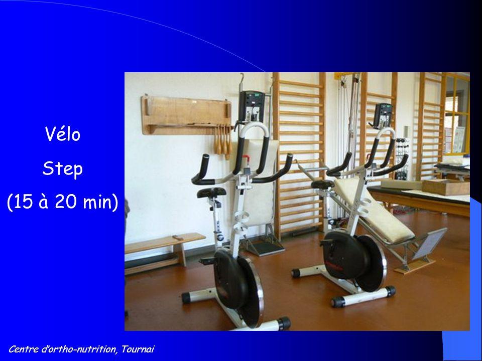 Centre d'ortho-nutrition, Tournai Vélo Step (15 à 20 min)