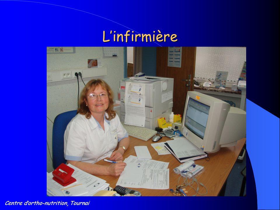 Centre d'ortho-nutrition, Tournai L'infirmière