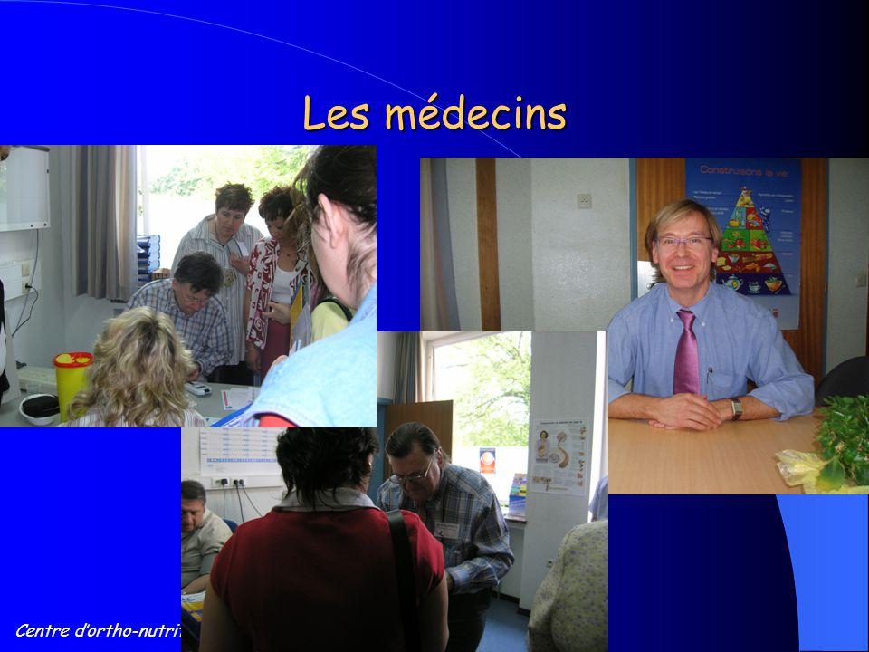 Centre d'ortho-nutrition, Tournai Les médecins