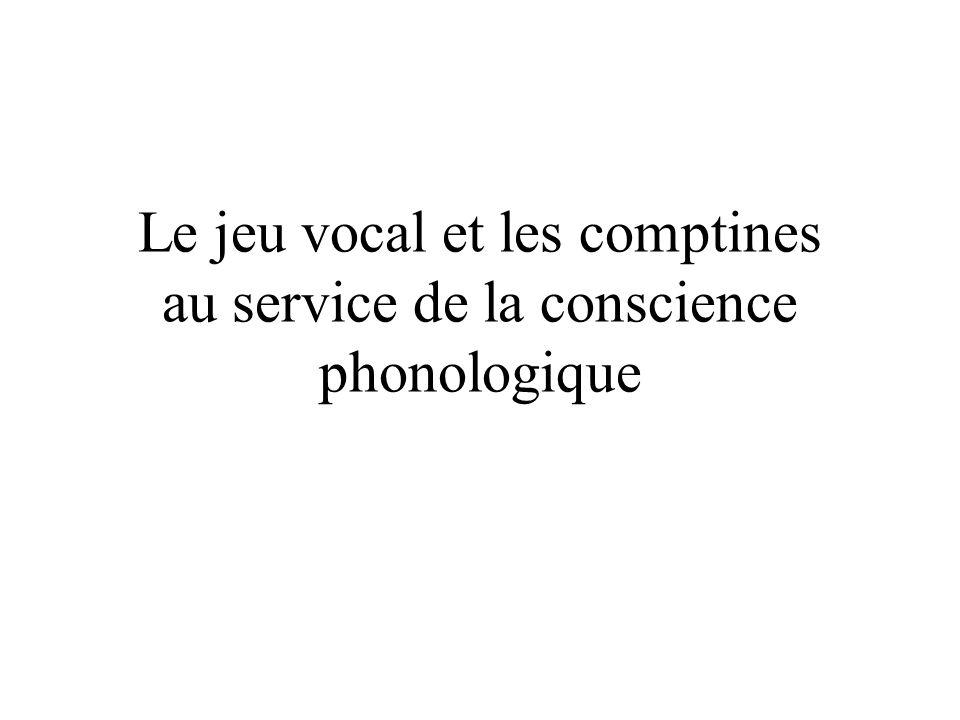 Le jeu vocal et les comptines au service de la conscience phonologique