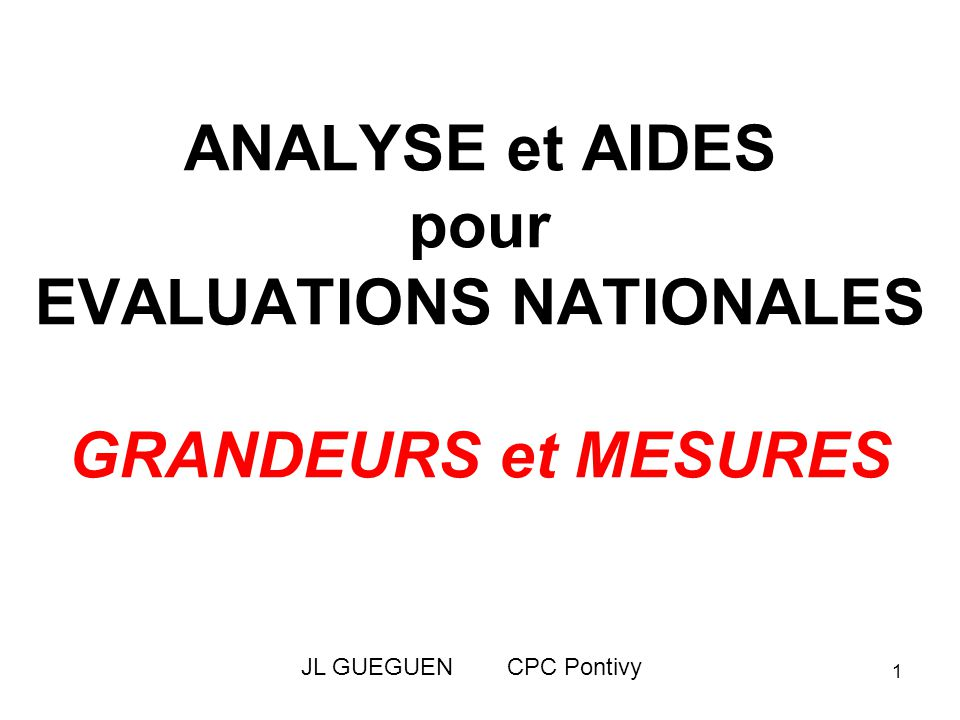 2 EVALUATIONS CM2 Janvier 2011