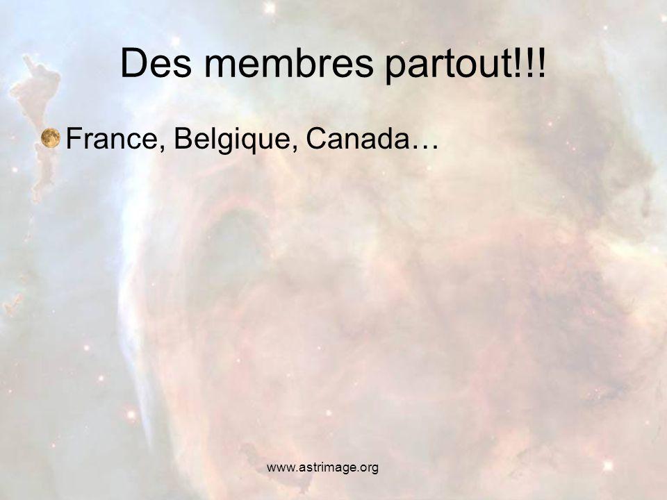 www.astrimage.org Des membres partout!!! France, Belgique, Canada…