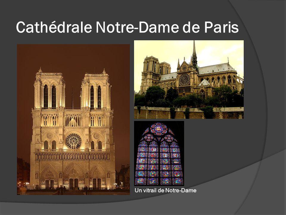 Cathédrale Notre-Dame de Paris Un vitrail de Notre-Dame