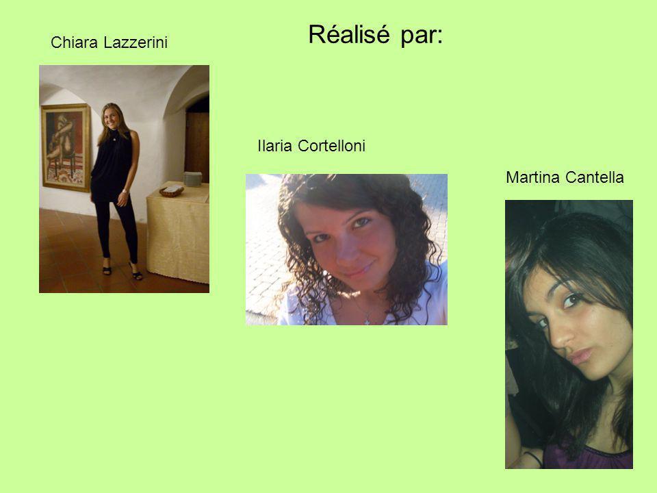 Ilaria Cortelloni Chiara Lazzerini Martina Cantella Réalisé par: