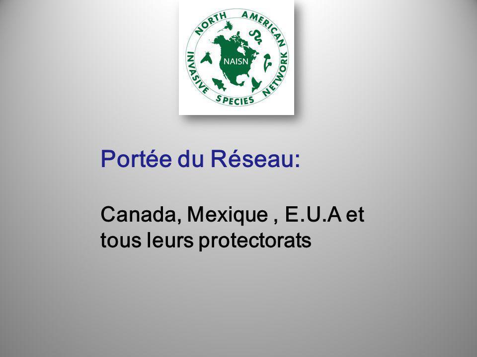 Portée du Réseau: Canada, Mexique, E.U.A et tous leurs protectorats