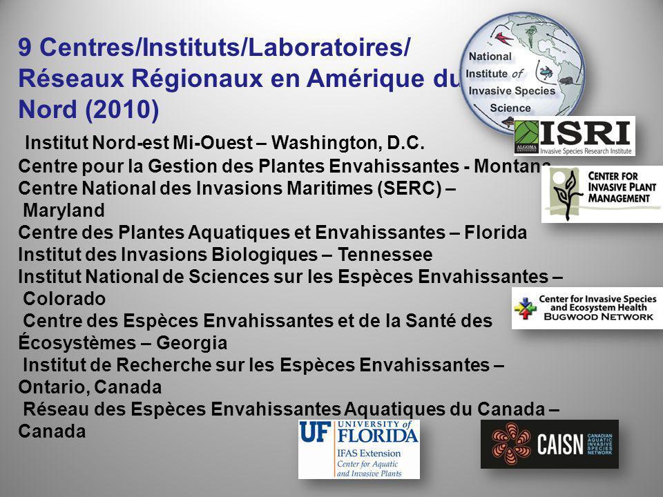 9 Centres/Instituts/Laboratoires/ Réseaux Régionaux en Amérique du Nord (2010) Institut Nord-est Mi-Ouest – Washington, D.C.