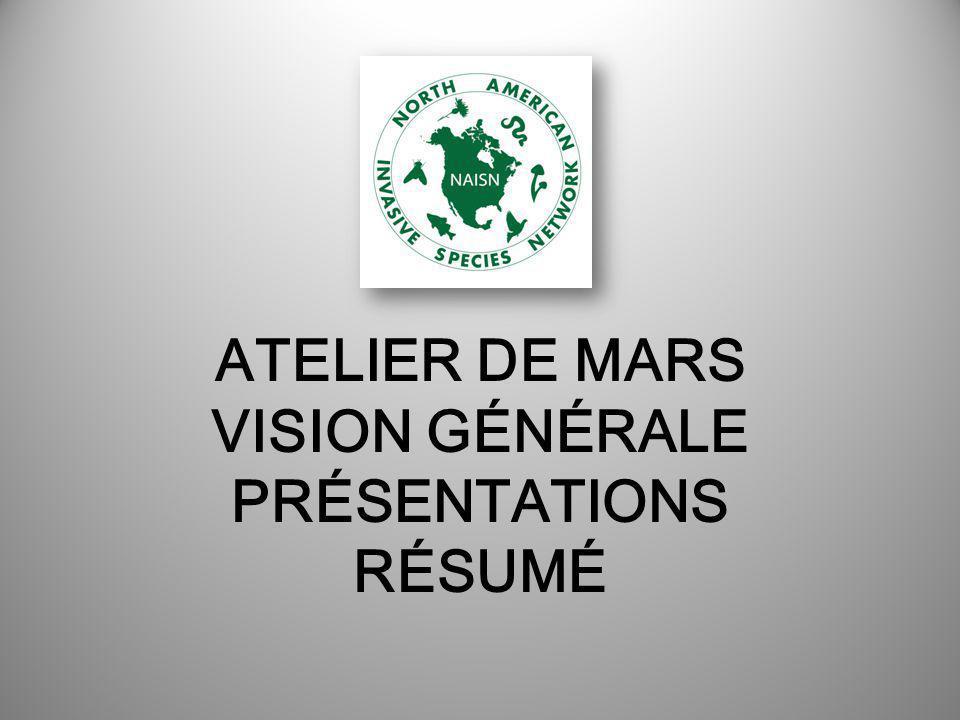 ATELIER DE MARS VISION GÉNÉRALE PRÉSENTATIONS RÉSUMÉ