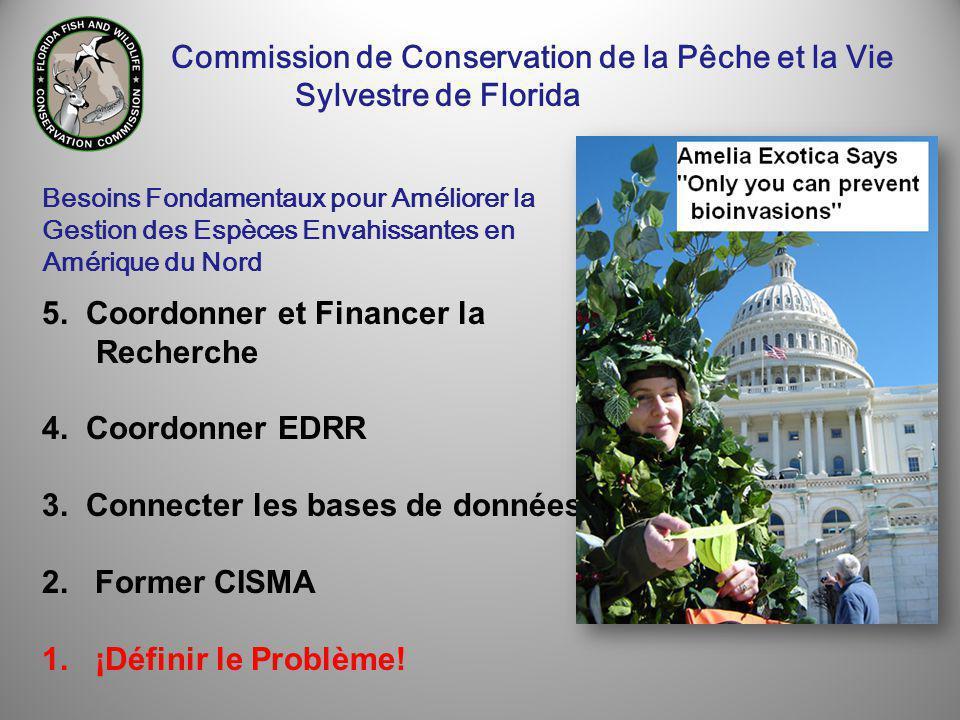 5. Coordonner et Financer la Recherche 4. Coordonner EDRR 3.