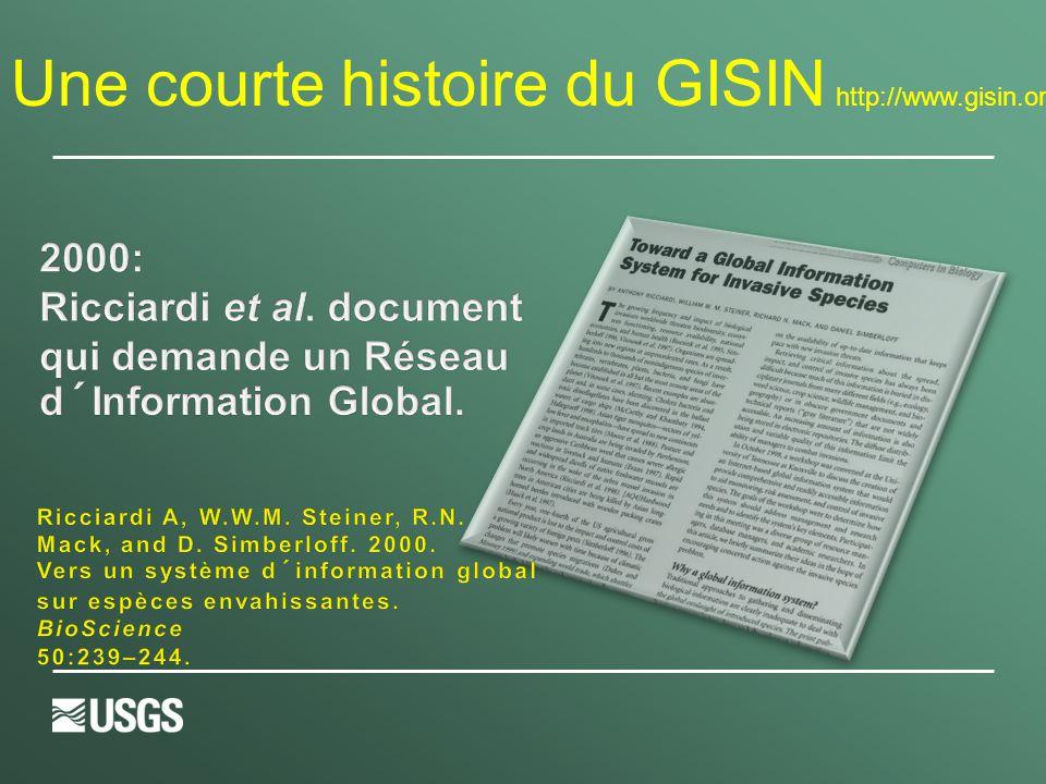 Une courte histoire du GISIN http://www.gisin.org