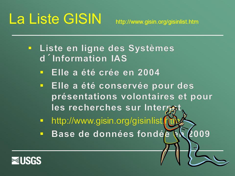 La Liste GISIN http://www.gisin.org/gisinlist.htm