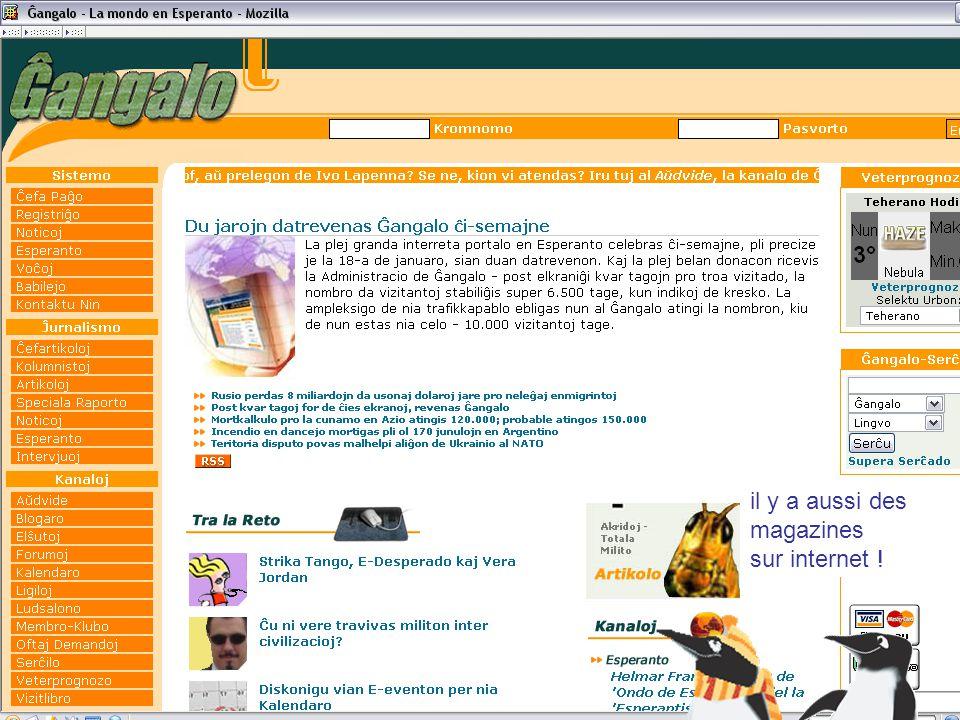 il y a aussi des magazines sur internet !