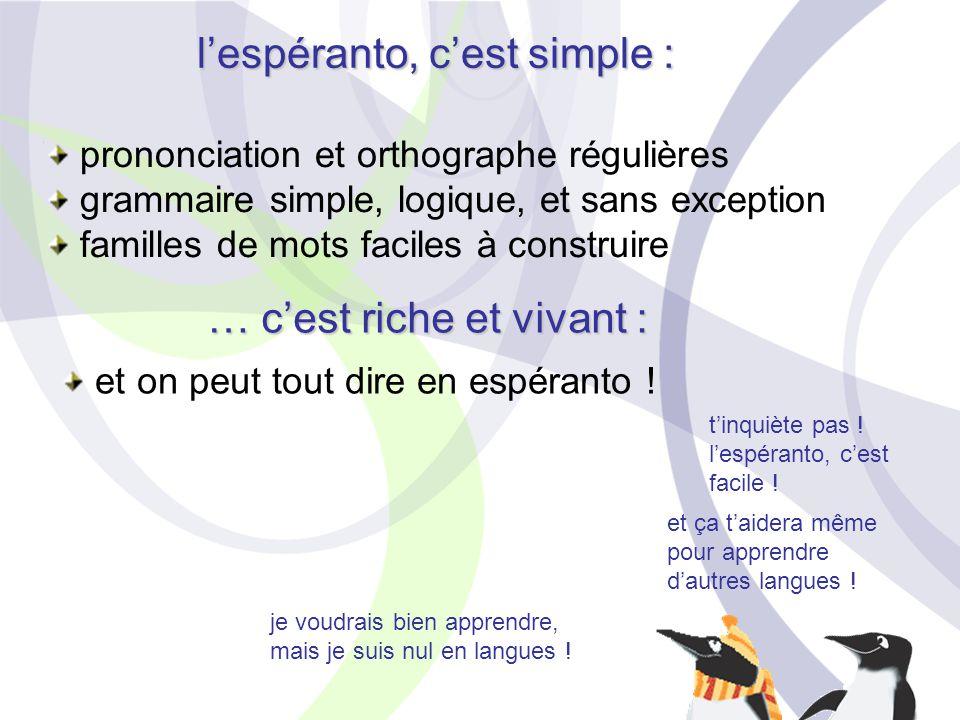 je voudrais bien apprendre, mais je suis nul en langues ! t'inquiète pas ! l'espéranto, c'est facile ! et ça t'aidera même pour apprendre d'autres lan