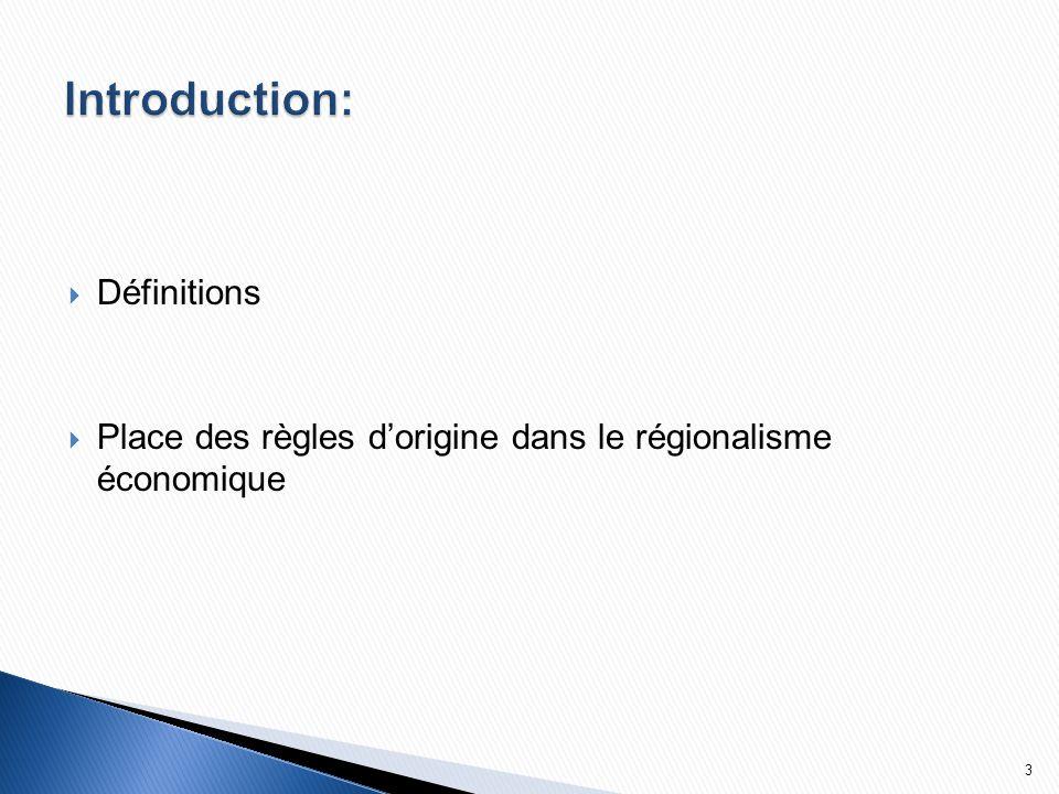 Les ACP sont régis par l'article XXIV du GATT 1994 et la clause d'habilitation.