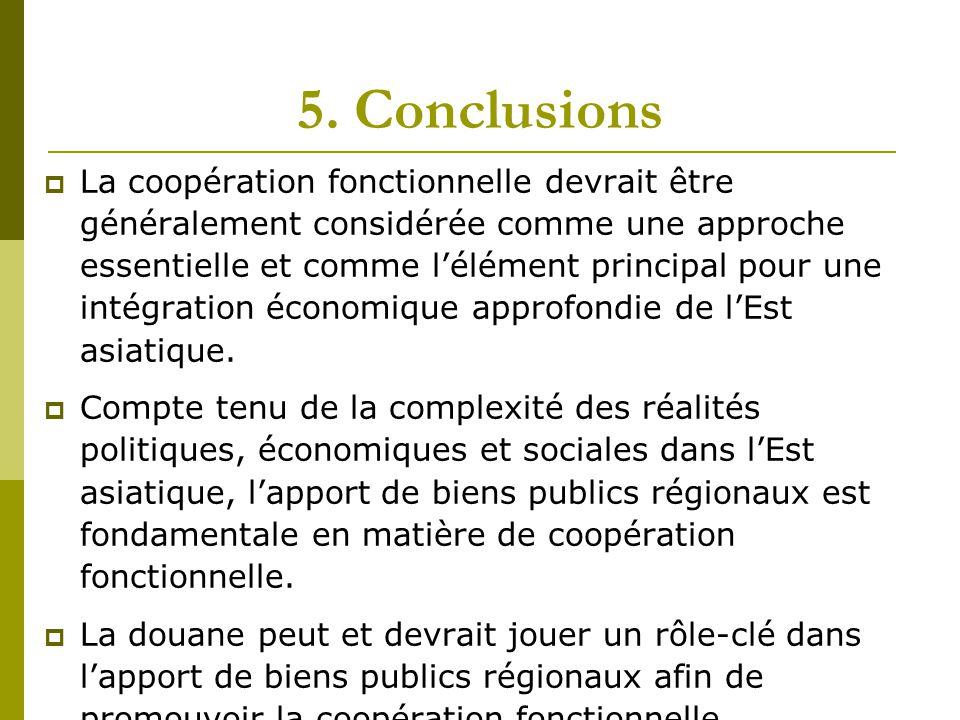 5. Conclusions  La coopération fonctionnelle devrait être généralement considérée comme une approche essentielle et comme l'élément principal pour un
