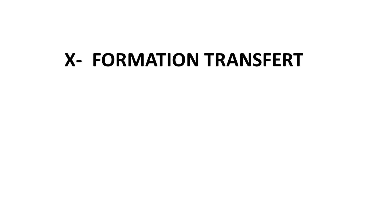X-FORMATION TRANSFERT