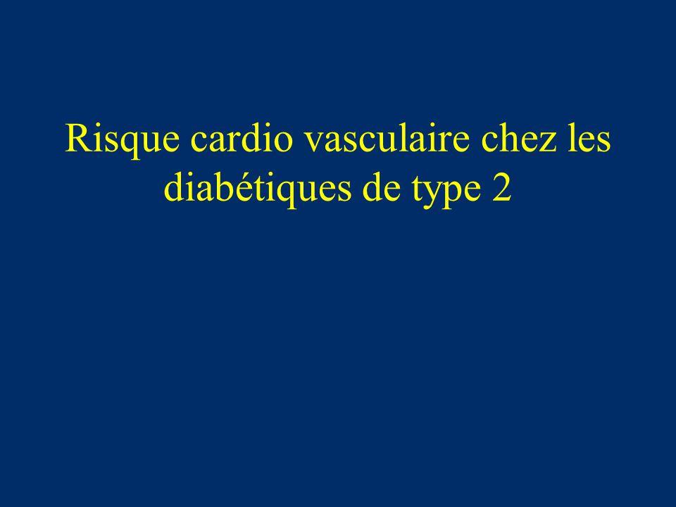 Risque cardio vasculaire chez les diabétiques de type 2