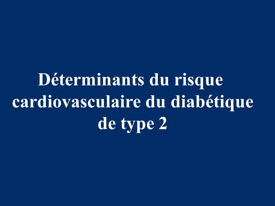 Déterminants du risque cardiovasculaire du diabétique de type 2