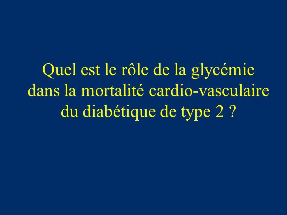 Quel est le rôle de la glycémie dans la mortalité cardio-vasculaire du diabétique de type 2 ?