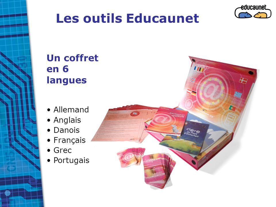 Les outils Educaunet Un coffret en 6 langues Allemand Anglais Danois Français Grec Portugais