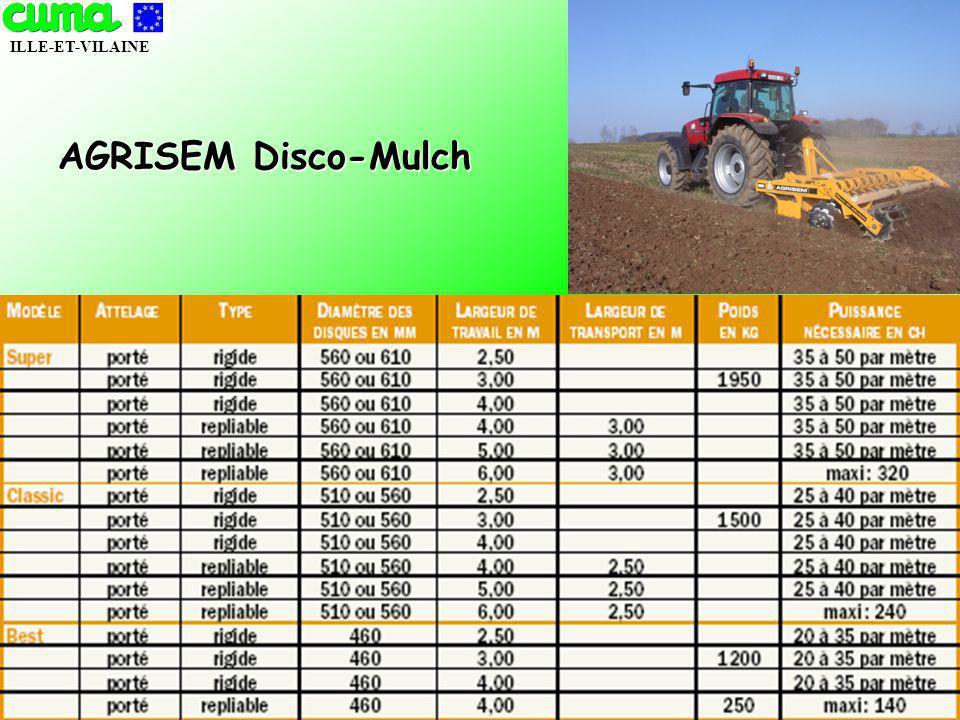 ILLE-ET-VILAINE NOVEMBRE 2005 AGRISEM Disco-Mulch
