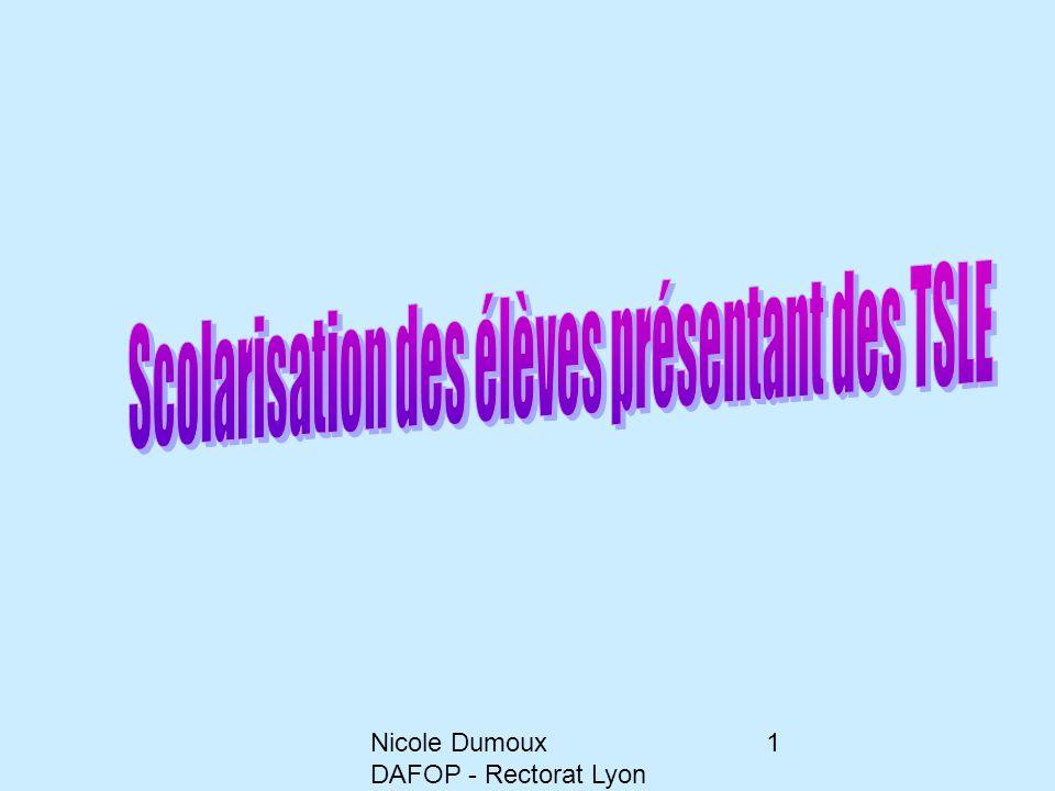 Nicole Dumoux DAFOP - Rectorat Lyon 22 Il s'agit juste de : - ralentir parfois, - d'écouter plus, - de parler moins, - de diversifier l'évaluation.