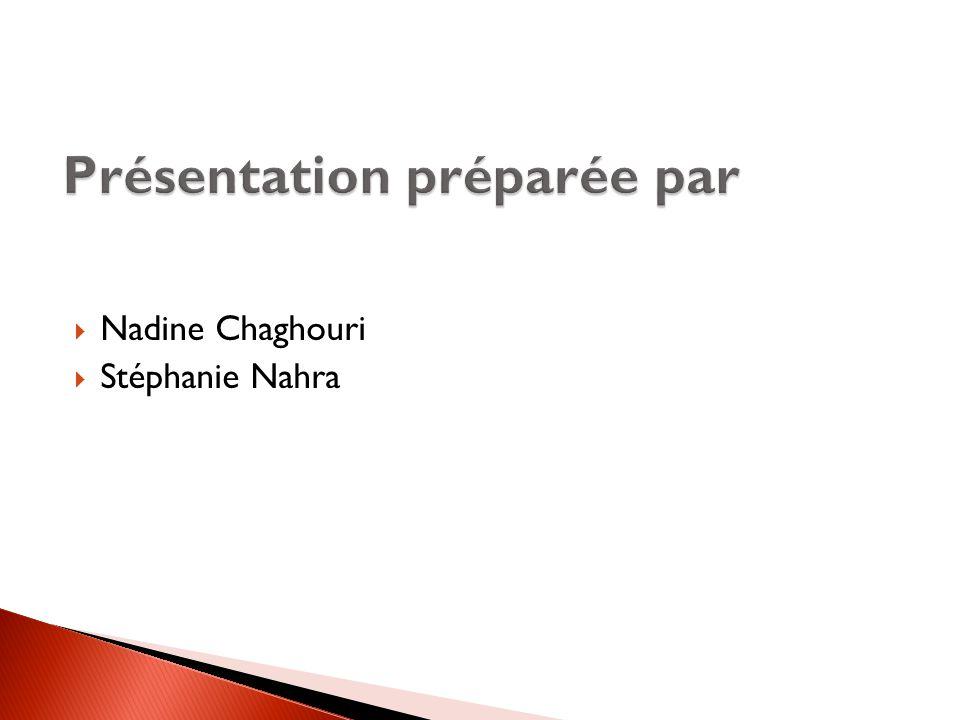  Nadine Chaghouri  Stéphanie Nahra