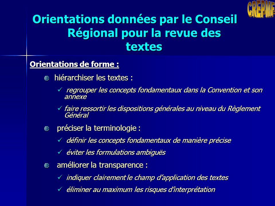 Orientations d'ordre général : élaborer des textes clairs et précis qui n'appellent pas de multiples interprétations mettre en harmonie les textes du