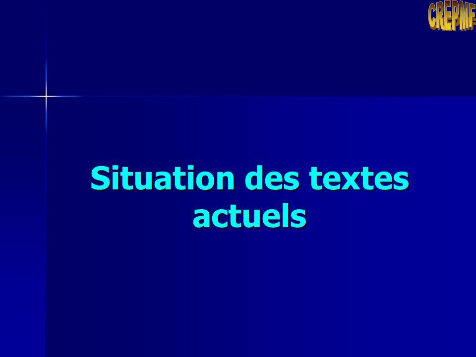 Plan Situation des textes actuels Objectifs de la révision des textes Orientations données par le Conseil Régional Calendrier de révision des textes P