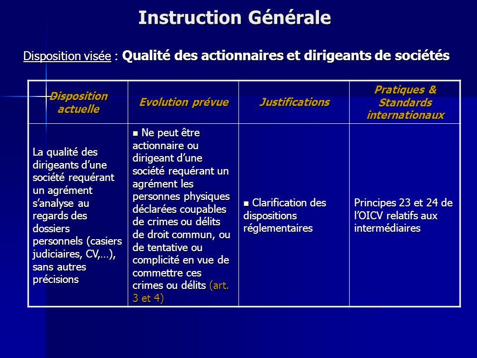 Instruction Générale