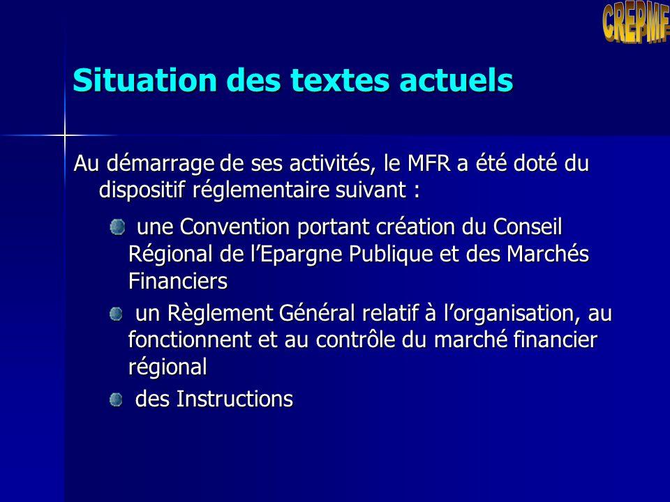 Rappel : Le CREPMF a cinq principales attributions : Réglementer Réglementer Autoriser Autoriser Contrôler Contrôler Surveiller Surveiller Sanctionner