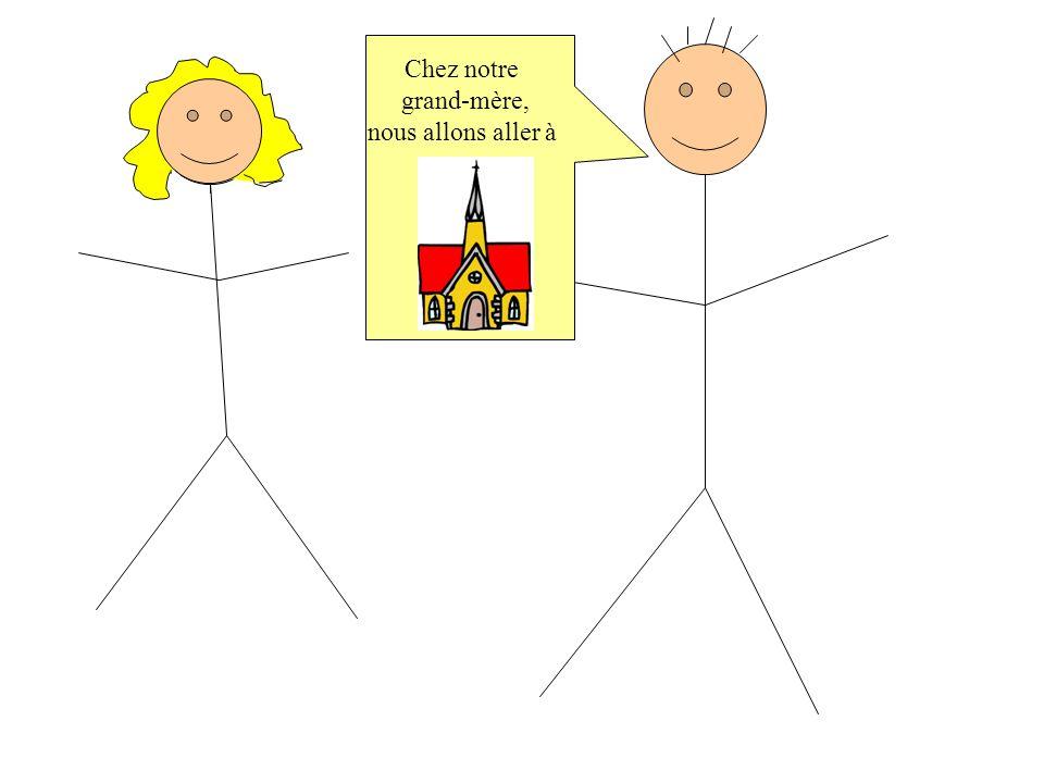 Dimanche prochain…. Chantal et Luc arrivent chez leur grand-mère pour fêter Pâques.