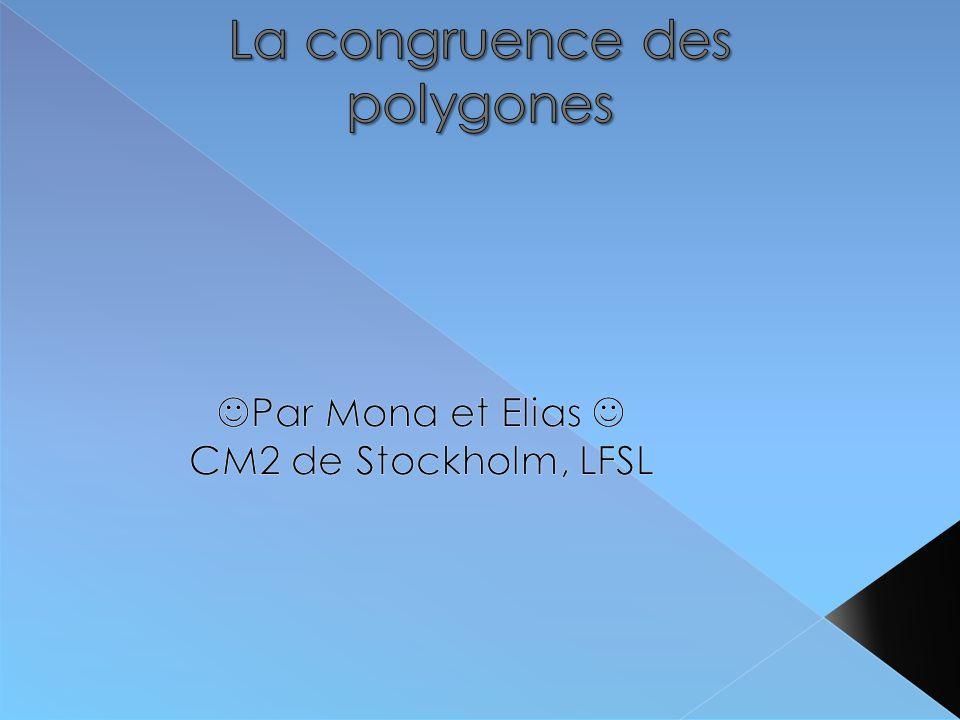 Nous avons travaillé sur la congruence des polygones.