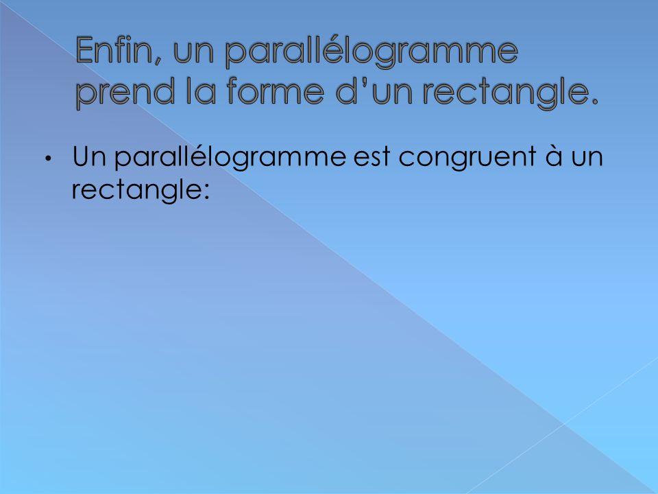 Un parallélogramme est congruent à un rectangle: