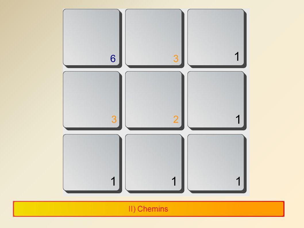 II) Chemins 1 1 1 11 23 36