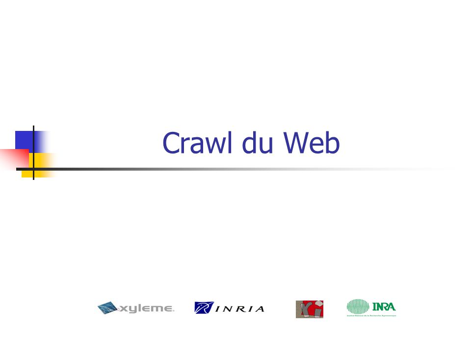 Crawl du Web