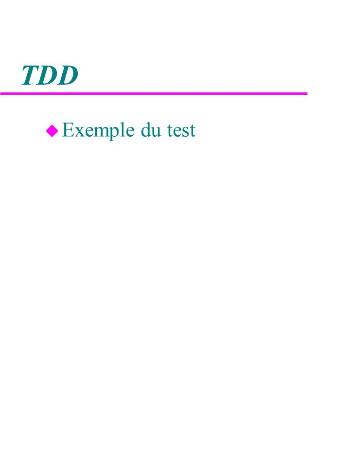 TDD u Exemple du test