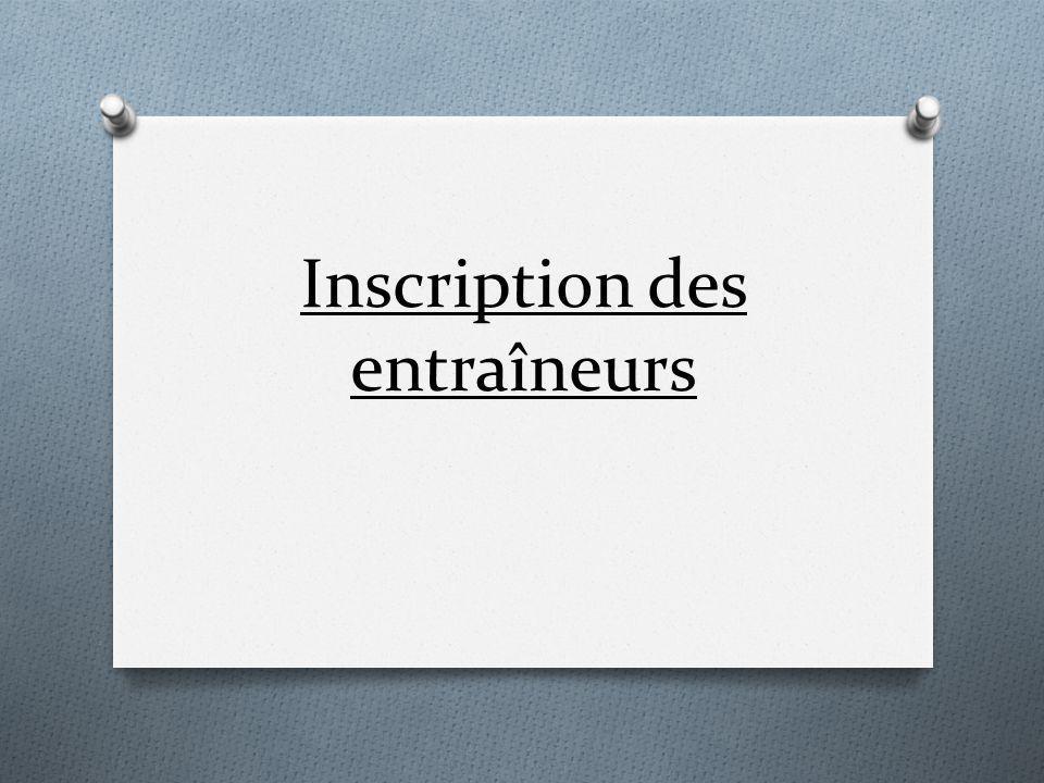 Inscription Athlètes Sélectionnez «Athlètes»