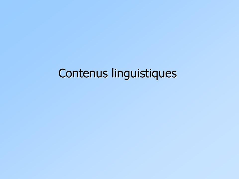 Contenu linguistique 1 Contenu verbal (segmental)  Ce qui peut être noté par écrit .