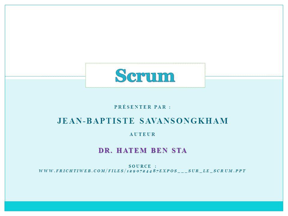 Scrum – Indicateurs de projet 1/2 Exposé sur le Scrum 21 Le tableau des tâches Source : « Scrum and XP from the trenches » de H.