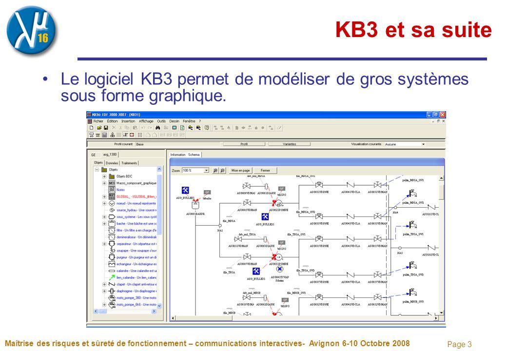 Page 3 KB3 et sa suite Le logiciel KB3 permet de modéliser de gros systèmes sous forme graphique. Maîtrise des risques et sûreté de fonctionnement – c