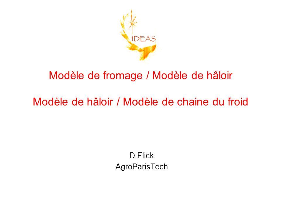 Modèle de fromage / Modèle de hâloir Modèle de hâloir / Modèle de chaine du froid D Flick AgroParisTech